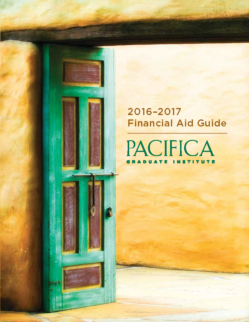 financial aid pacifica graduate institute 2016 2017 fa guide cover