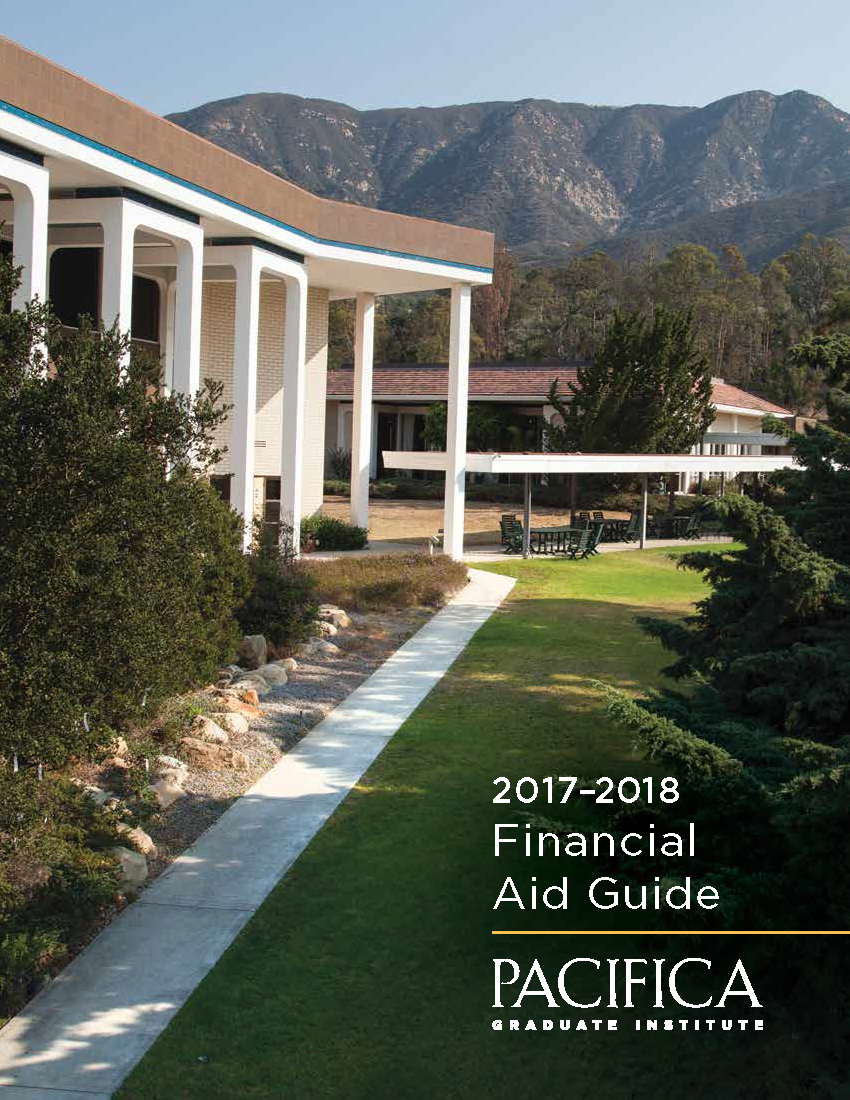 financial aid pacifica graduate institute 2017 2018 fa guide cover